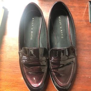 Kelly & Katie Burgundy Emmah Loafer
